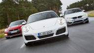 Porsche 911/BMW M4/Nissan GT-R: Test