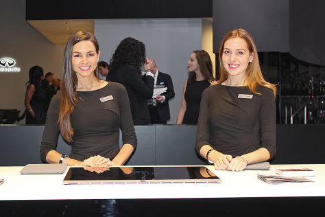 Hostessen der NAIAS 2016