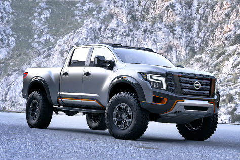 nissan titan warrior detroit 2016 vorstellung. Black Bedroom Furniture Sets. Home Design Ideas