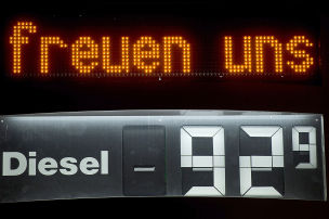 Diesel unter einem Euro
