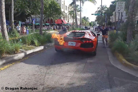 Lambo brennt in Miami: Video
