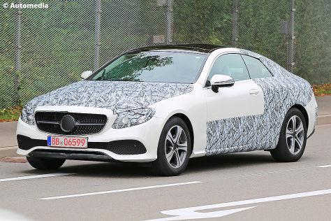 Mercedes E-Klasse Coupé (2017): Erlkönig