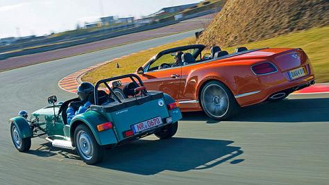 Bentley Continental GT Speed/Caterham Seven 165: Test