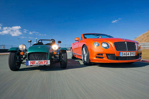 Bentley Continental GT Speed Caterham Seven 165