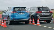 Toyota RAV4 Hybrid/Mitsubishi Outlander PHEV: Test