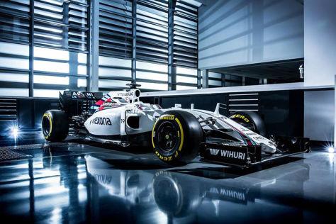Der neue FW38 erinnert optisch stark an sein Vorgängermodell aus 2015