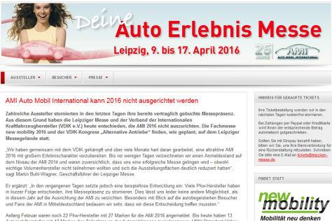 AMI Leipzig 2016: Absage
