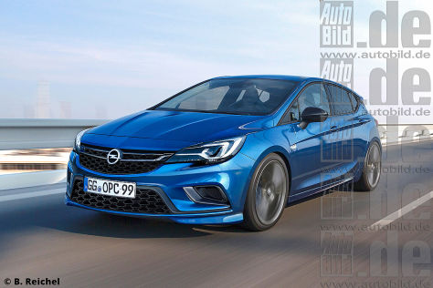 Opel Astra OPC Illustration