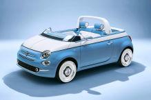Traumhafter Fiat 500 als Strandauto