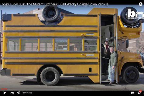 Verrückter Umbau: Topsy-turvy bus