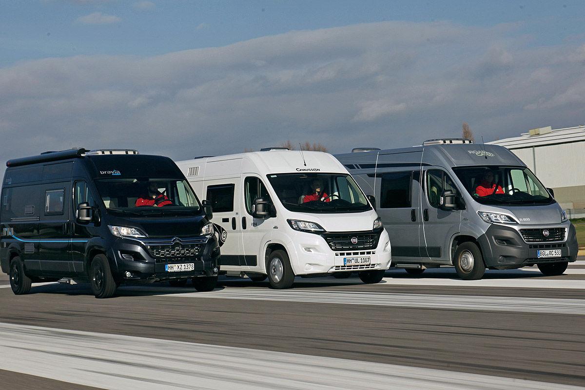 Drei Kastenwagen Im Wohnmobil Test Bilder
