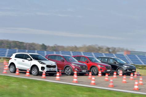 Vier kompakte Diesel-SUVs im Vergleich