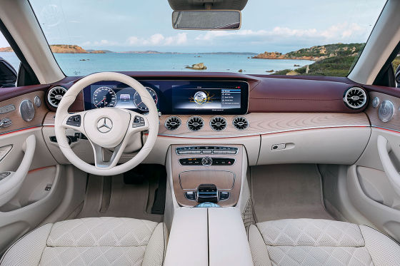 Mercedes e klasse cabrio 2017 test preis motoren for Interieur e klasse 2017