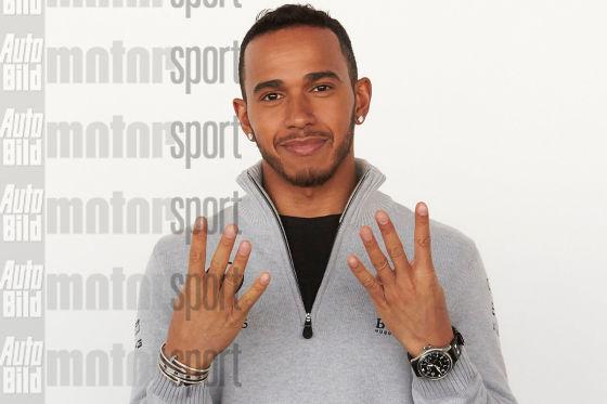 Lewis Hamilton im stummen Interview