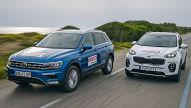 VW Tiguan/Kia Sportage: SUVs im Test