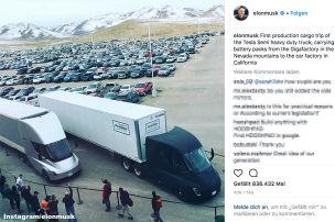 Erste Fahrt für Tesla Truck