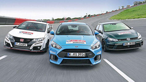 Ford Focus RS/VW Golf R/Honda Civic Type R: Test