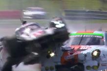 Spektakul�rer Crash von Porsche