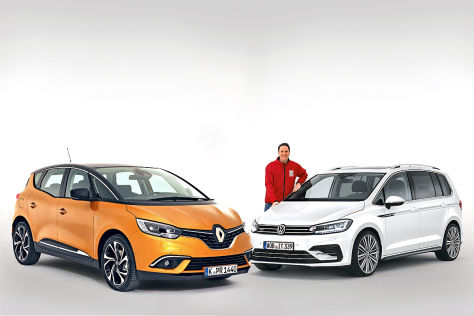 Renault Scénic VW Touran