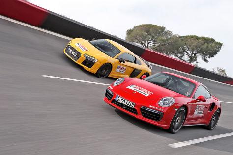 Audi R8 Porsche 911 Turbo