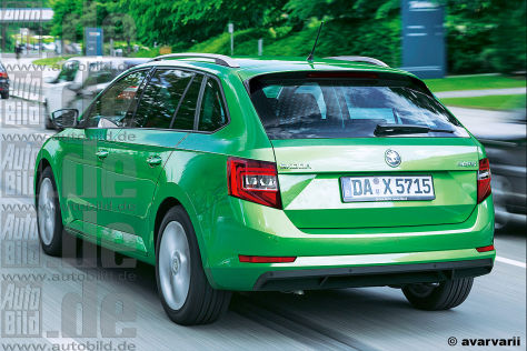 Skoda Rapiud Spaceback Illustration