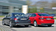 Mercedes E-Klasse/Skoda Superb: Test