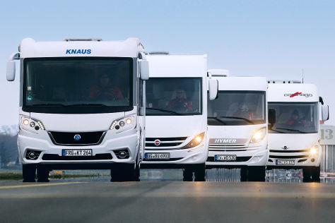 Knaus Van i 650 MEG, Bürstner Viseo i 690 G, Hymer Exsis-i 588, Carthago c-compactline I 138