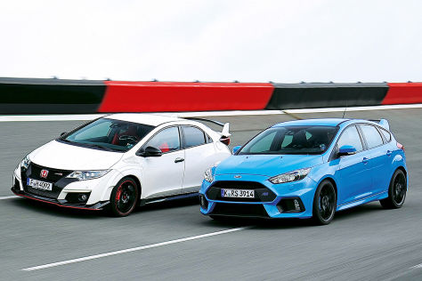 Ford Focus RS Honda Civic Type R