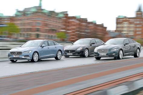Jaguar XJ Maserati Quattroporte Volvo S90