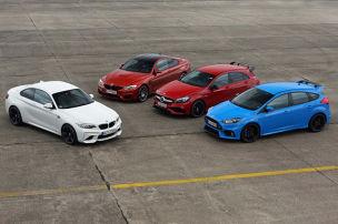 Dragrace: M2 gegen A 45, Focus RS und M4
