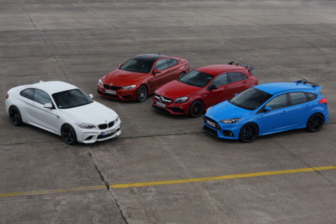 Dragrace: M2 gegen A45, Focus RS und M4