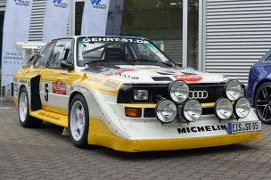 Ausfahrt im 560-PS-Rallye-Audi