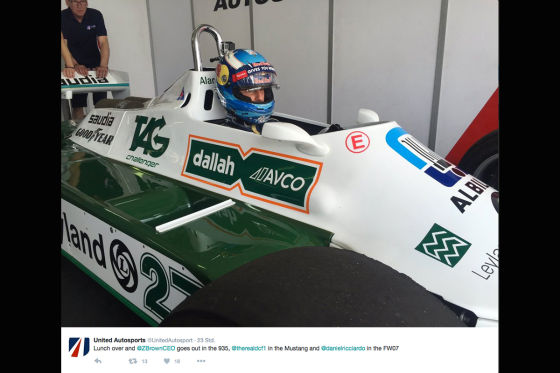 Ricciardo testet Williams