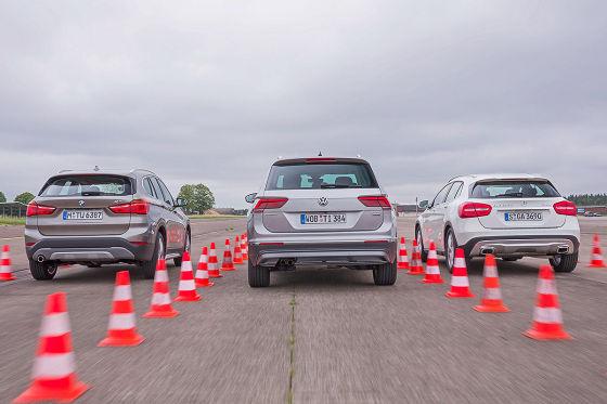 BMW X1 Mercedes GLA VW Tiguan