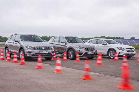 MW X1 Mercedes GLA VW Tiguan