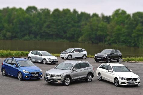 VW Tiguan gegen fünf Konkurrenten