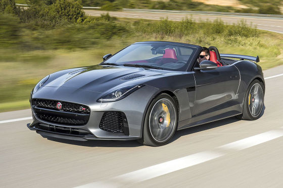 jaguar f type svr cabrio 2016 fahrbericht leistung preis. Black Bedroom Furniture Sets. Home Design Ideas