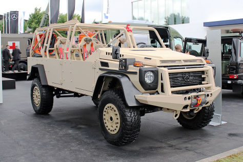 Mercedes G-Klasse 6x6 Militär: Sitzprobe