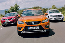 Seat Ateca/VWTiguan/Nissan Qashqai: Test