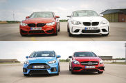 AMG A 45 vs. Focus RS vs. BMW M4 & M2
