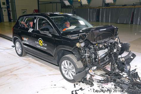 VW Tiguan, Seat Ateca, Alfa Romeo Giulia: Euro-NCAP-Crashtest (2016)