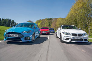 Audi RS 3/BMW M2/Ford Focus RS/Mercedes A 45 AMG: Test