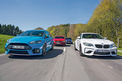 Audi RS 3 BMW M2 Ford Focus RS Mercedes A 45 AMG