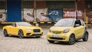 Bentley Continental GT V8 Convertible/Smart fortwo Cabrio: Test