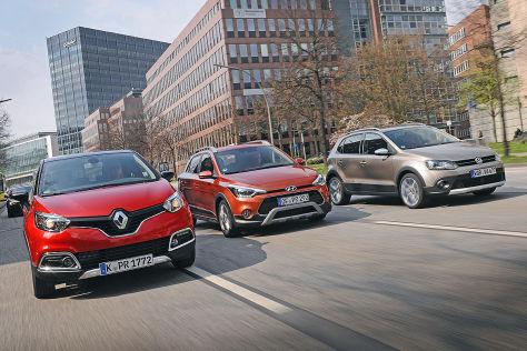 Hyundai i20 Active Renault Captur VW Cross Polo: