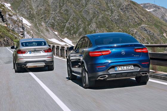 BMW X4 Mercedes GLC Coupé