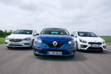 Kia cee'd Opel Astra Renault Mégane