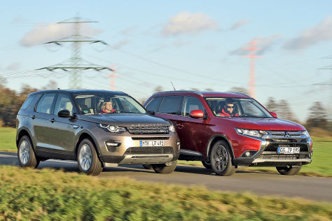 Land Rover Discovery Sport Mitsubish Outlander