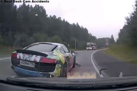 Audi R8: Dashcam zeichnet Fahrerflucht auf
