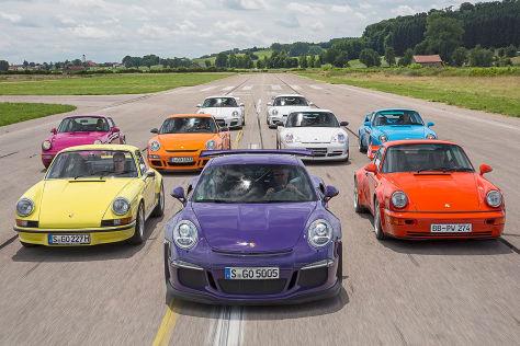 Neun Generationen Porsche 911 RS